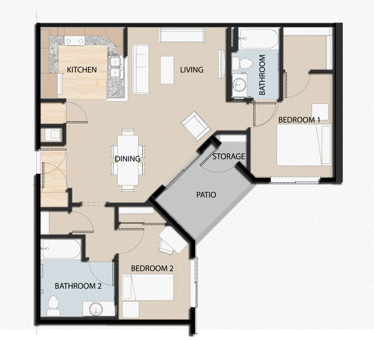 Floor Plans Salado Orchard Apartments Affordable Housing In South Gate California